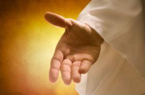 reach out hand